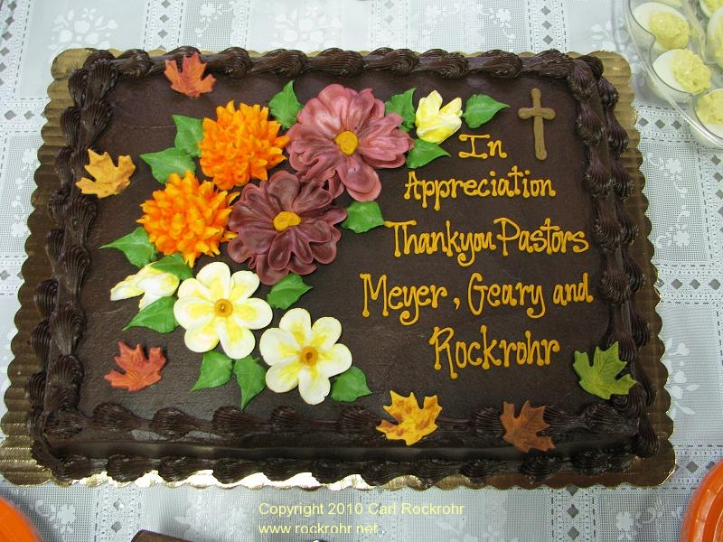 Pastor Appreciation Cake http://www.rockrohr.net/2010/10/17/october-rockrohr-happenings/