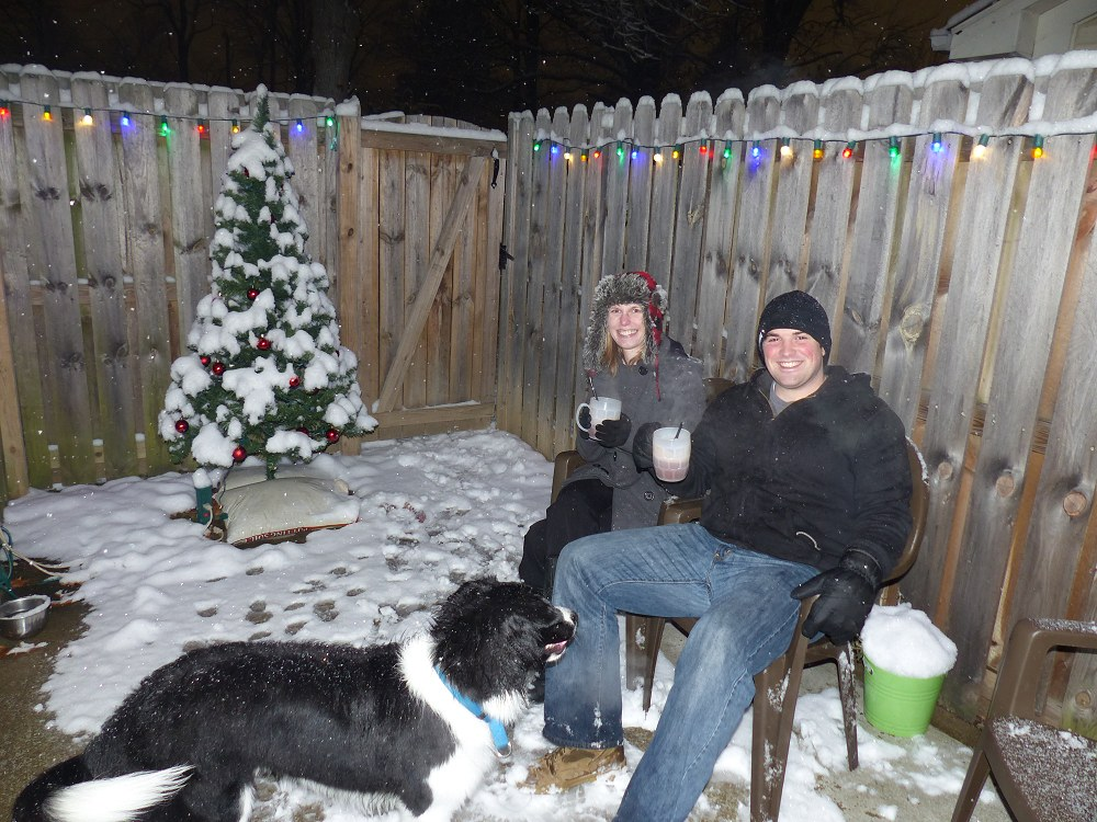 2 Paul and Stacy First Snow with Hot Chocolate